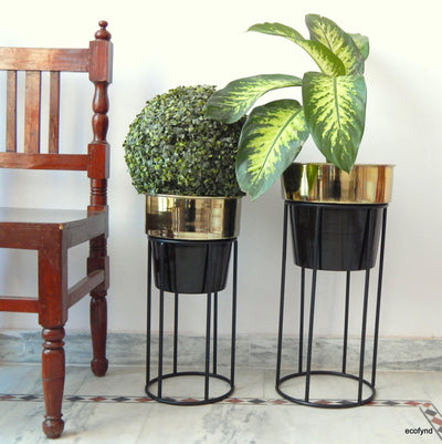 Dual Tone Plant Pot Set, Set of 2