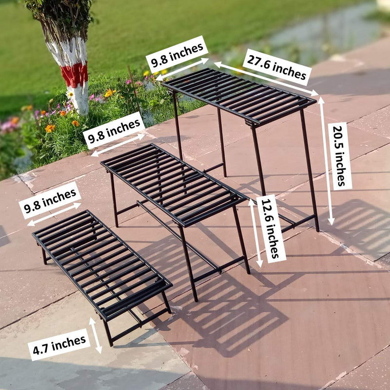 ecofynd Three Tier Metal Stand
