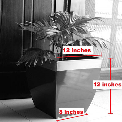 Midland 12 inches Red Tapered Planter