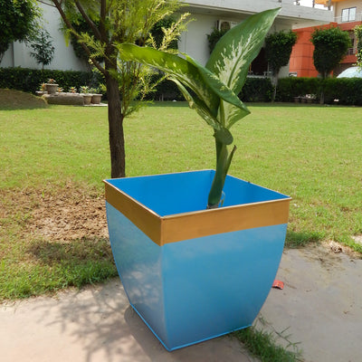 Midland 12 inches Blue Tapered Planter