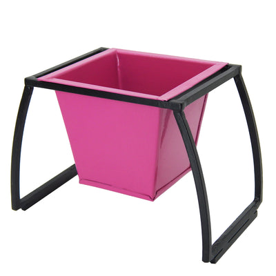 ecofynd Stackable Table Top Planter Pot with Metal Stand {WITHOUT PLANTS}, Pink - Ecofynd Online Home and Garden Store