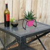 ecofynd Stackable Table Top Planter Pot with Metal Stand, Pink