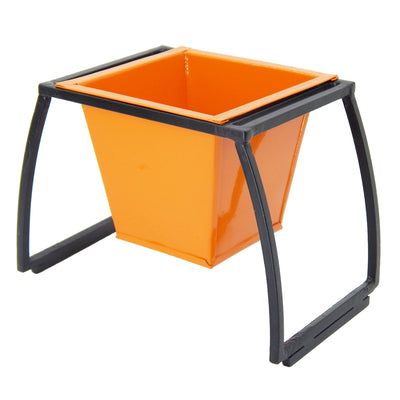 ecofynd Stackable Table Top Planter Pot with Metal Stand {WITHOUT PLANTS}, Orange - Ecofynd Online Home and Garden Store