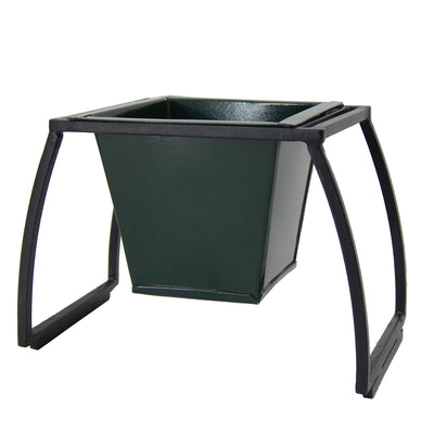 ecofynd Stackable Table Top Planter Pot with Metal Stand {WITHOUT PLANTS}, Dark Green - Ecofynd Online Home and Garden Store