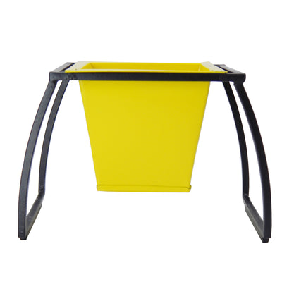 ecofynd Stackable Table Top Planter Pot with Metal Stand {WITHOUT PLANTS}, Yellow - Ecofynd Online Home and Garden Store