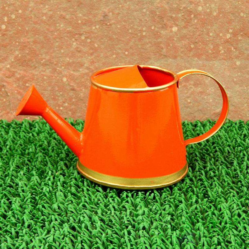ecofynd 250 ml Orange Watering Can with Gold Border for Kids