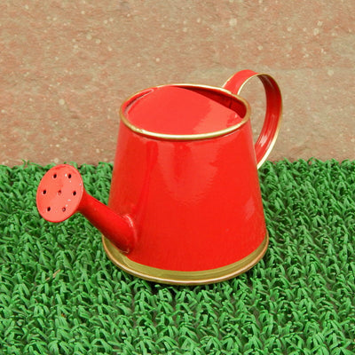 ecofynd 250 ml Red Watering Can with Gold Border for Kids