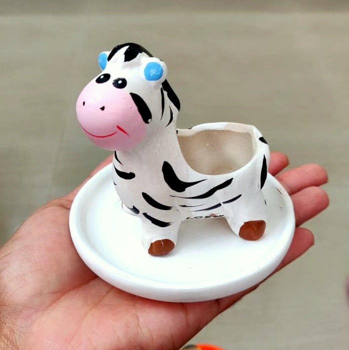 Terracotta Miniature Zebra Planter