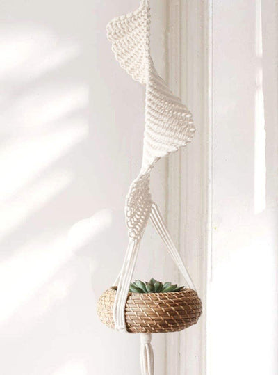 Macrame Cotton Plant Hanger, 1 Pack