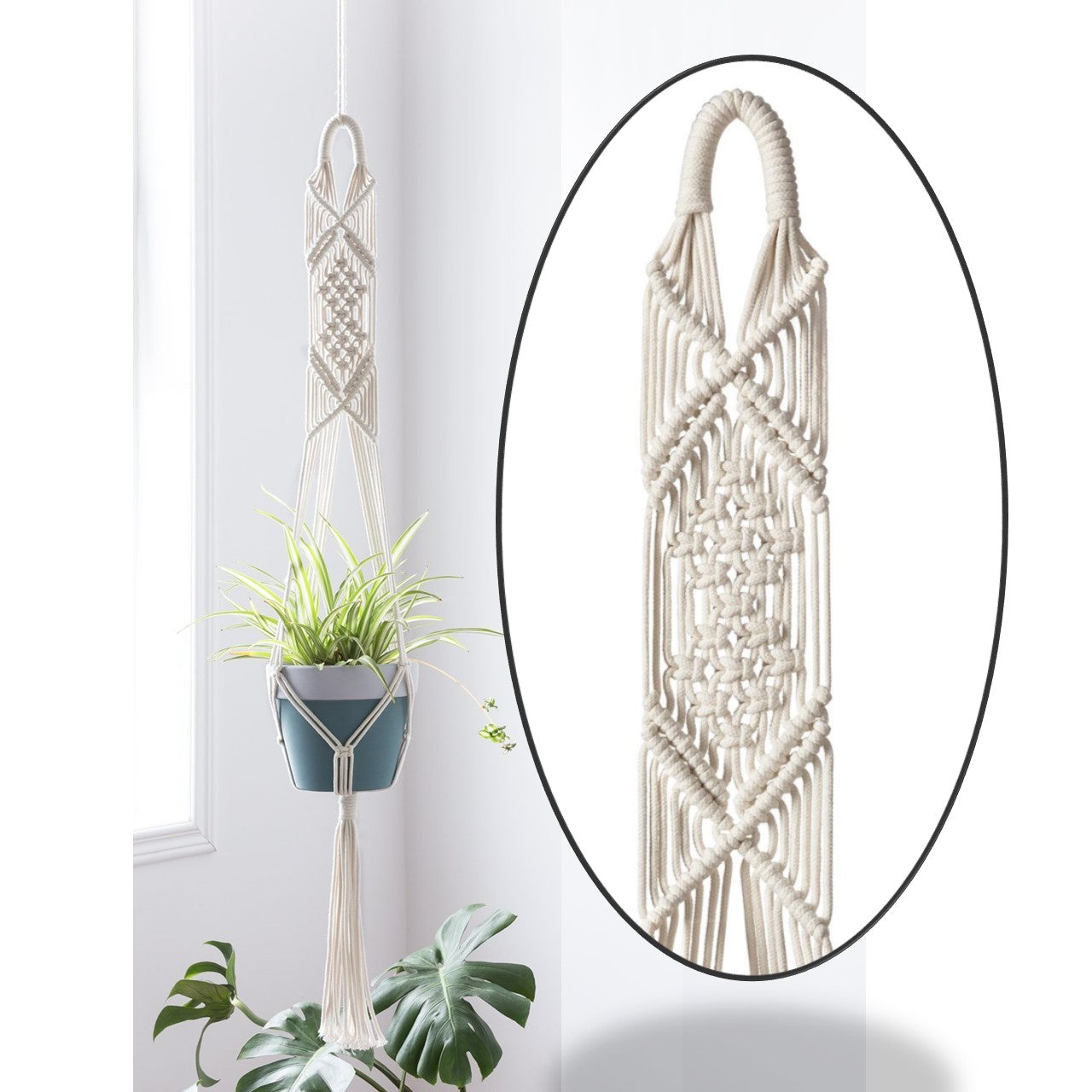 Macrame Cotton Plant Wall Hanger