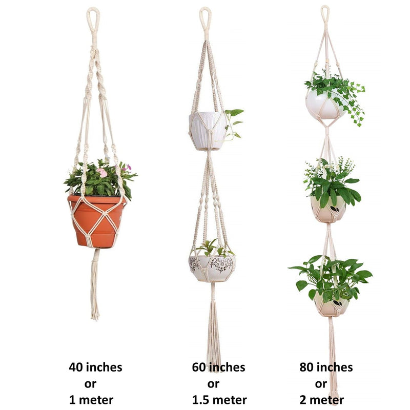 Macrame Cotton Plant Hanger - Set of 3