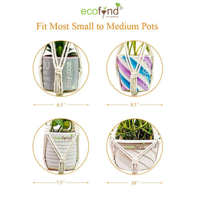 Three Tier Macrame Cotton Plant Hanger, 1 Pack