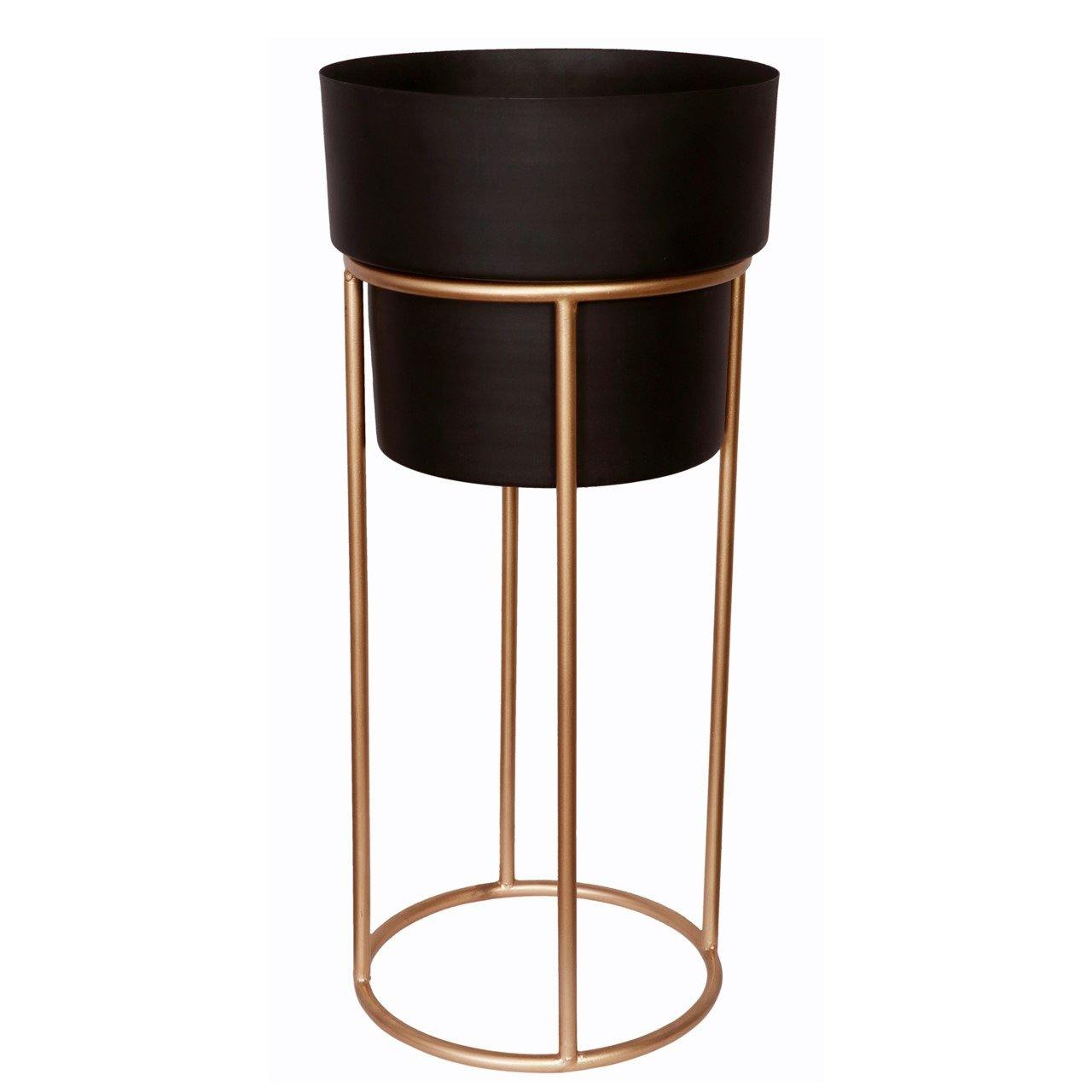 Dutone Metal Planter Pot with Stand