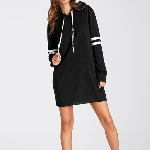 ICHIVE.COM - WOMEN'S LONG SLEEVE HOODIE DRESS