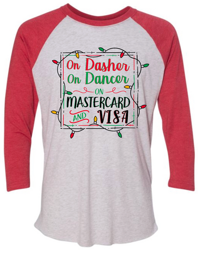Dasher Dancer- Raglan- Red/White