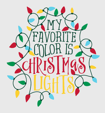 Load image into Gallery viewer, Christmas Lights- Long Sleeve- Ash