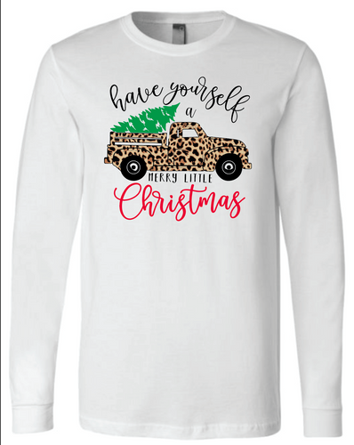 Cheetah Truck- Long Sleeve- White