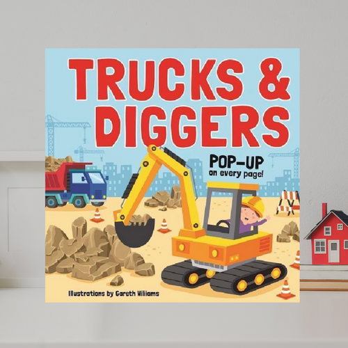 Pop Up Book - Trucks and Diggers