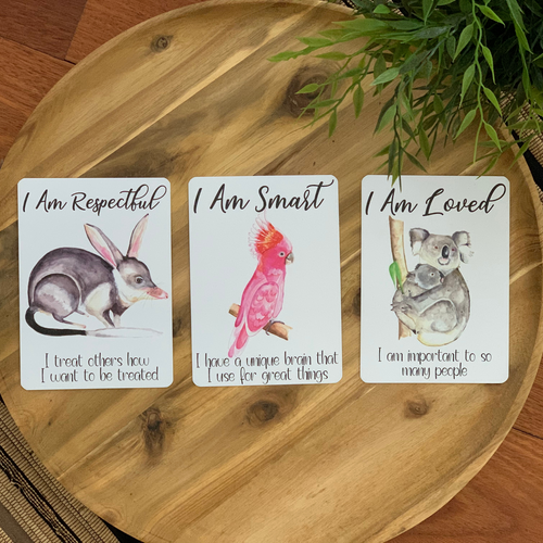 Australiana Affirmation Cards for Kids