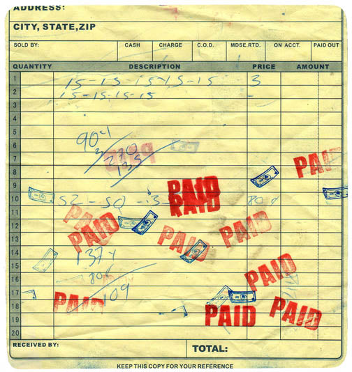paid in full checkbook cover design