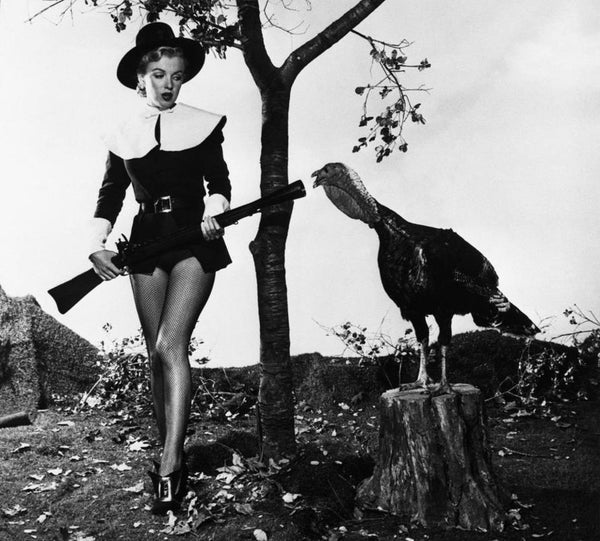 Marilyn as a Pilgrim with a Turkey