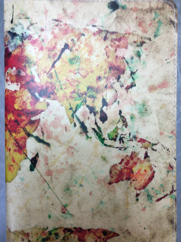 Paint splatter Passport Holder; Custom made by 11:11 Enterprises