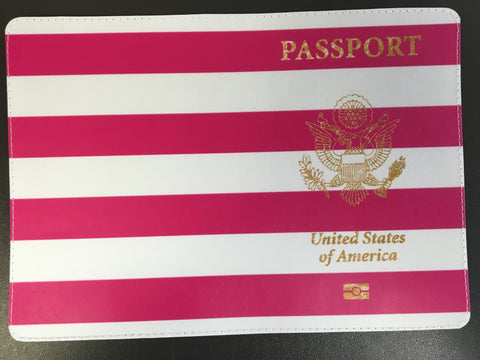 Striped United States of America Passport Cover Design Made by 11:11 Enterprises for Zazzle Customer