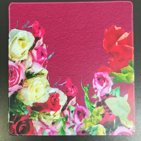 Creative Pink Multi Color Roses Checkbook Cover Design made by 11:11 Enterprises for Zazzle Customer