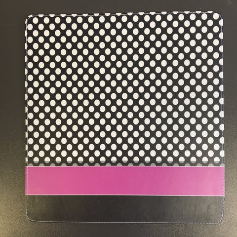 White Polka Dots with Pink Stripe Checkbook Cover Design made by 11:11 Enterprises for Zazzle Customer