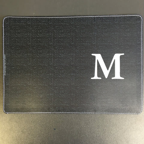 Custom Initial M Black Passport Holder made by 11:11 Enterprises for Zazzle Customer