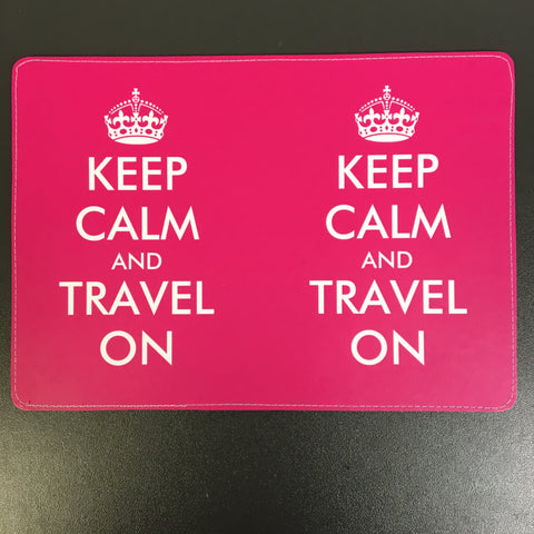 Keep Calm and Travel On Passport Cover Design made by 11:11 Enterprises for Zazzle Customer
