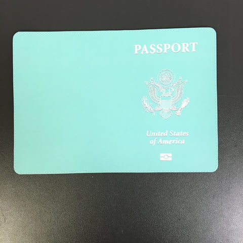 Blue Teal USA Custom Passport Cover Design made by 11:11 Enterprises for Zazzle Customer
