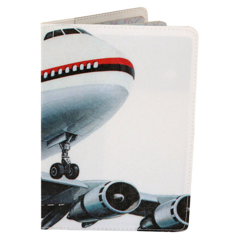 jet airliner passport cover