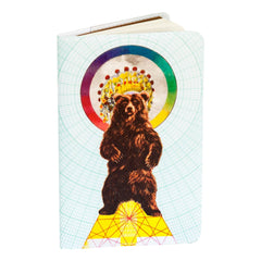 Magical Bear Small Covered Moleskine Notebook