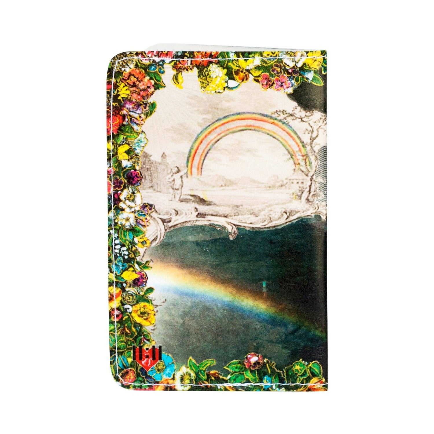 Flamingo Rainbow Paradise Business, Credit Card& ID Holder
