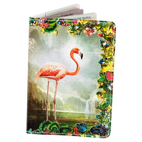 Flamingo Rainbow Paradise Passport Holder