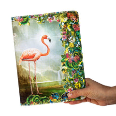 Flamingo Rainbow Paradise Extra Large Moleskine Cahier Covered Notebook