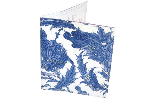 Exotic Birds Wood Cut Bi-Fold Wallet
