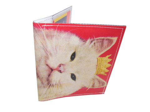 Pink Royal Kitty Cat Bi-Fold Wallet