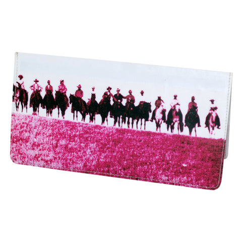 Pink Wild West Cowboy Checkbook Cover