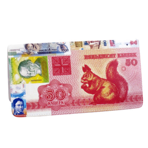 International Money Currency Checkbook Cover