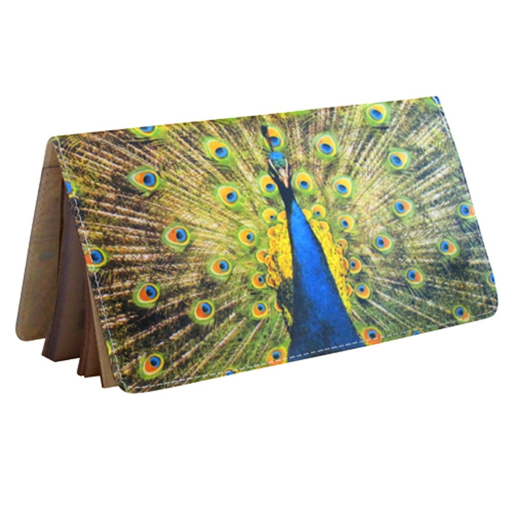 Proud Peacock Checkbook Cover
