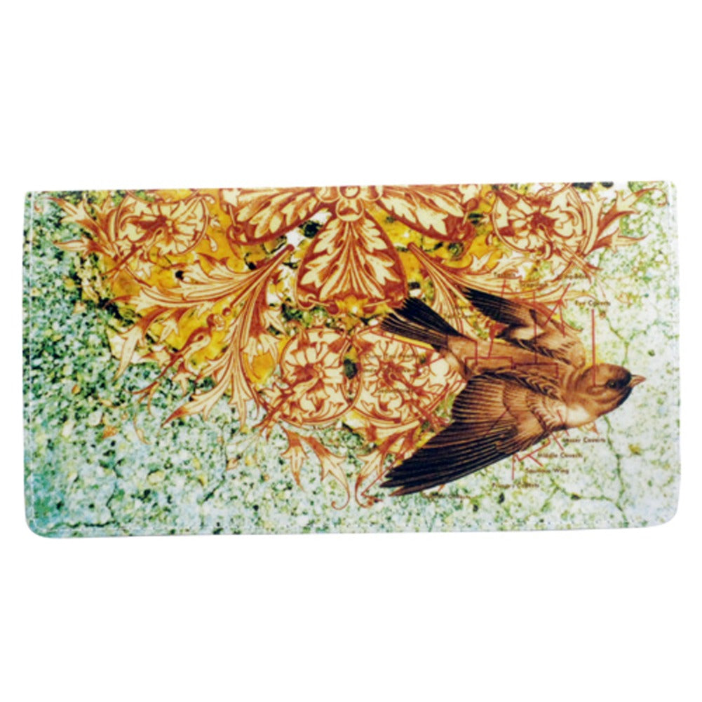 Ornate Bird Checkbook Cover