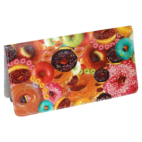 Checbook Cover featuring Colorful Sprinkles Donut Design by Jamila Starwater Tazewell