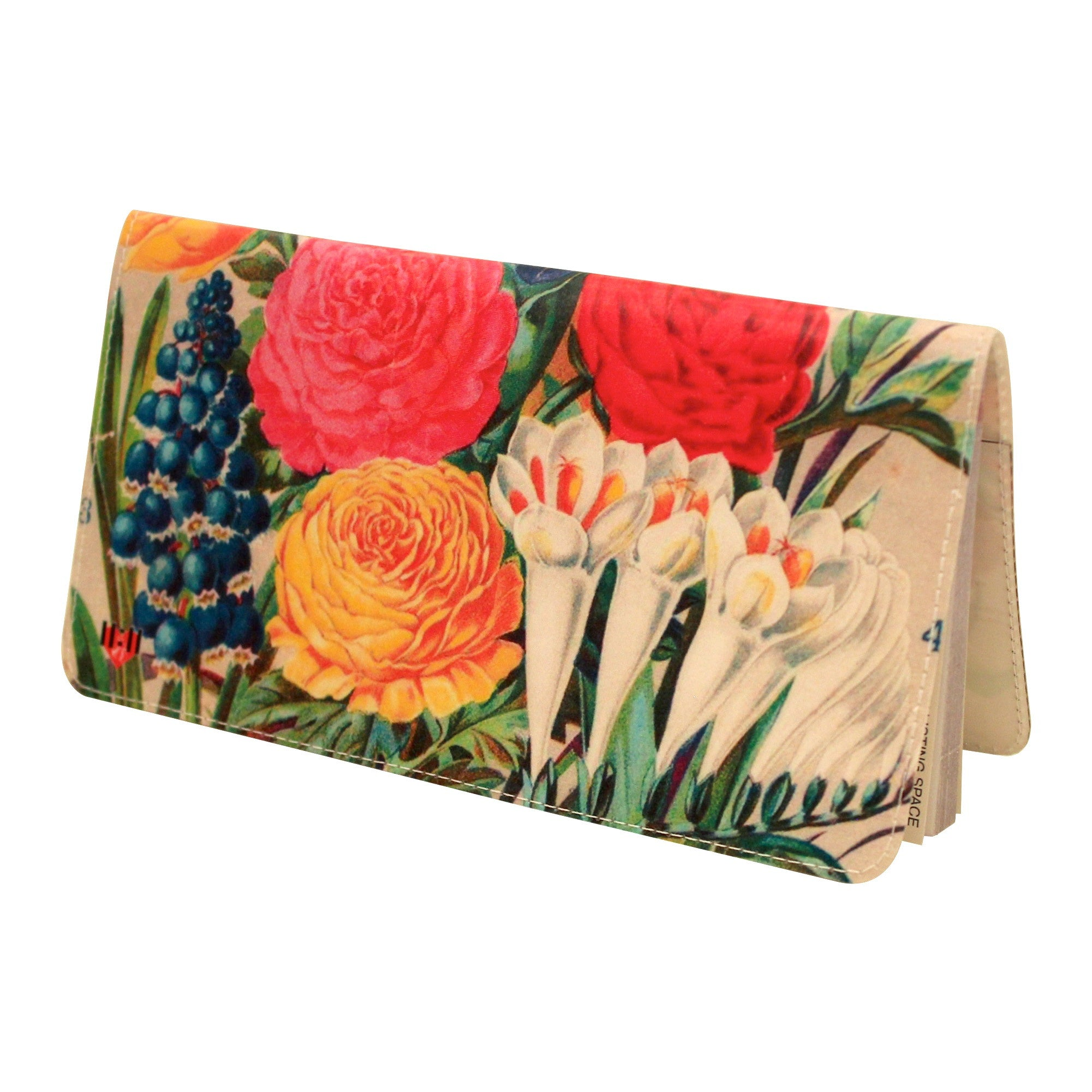 Flower Garden Checkbook Cover