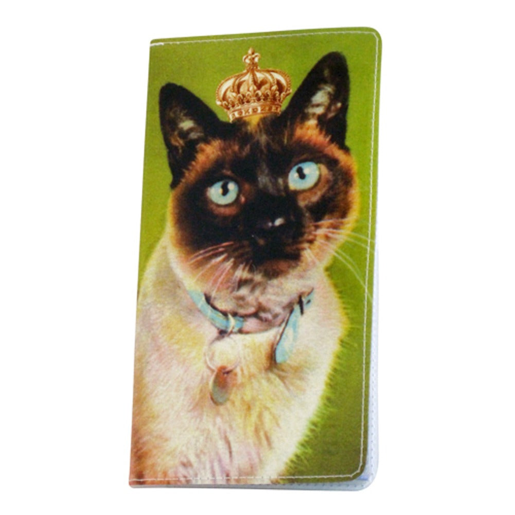 Royal Green Kitty Checkbook Cover