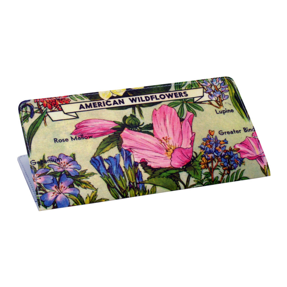 American Wildflowers Checkbook Cover