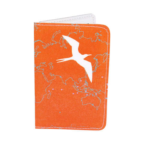 Orange Bird Map Business, Credit & ID Card Holder