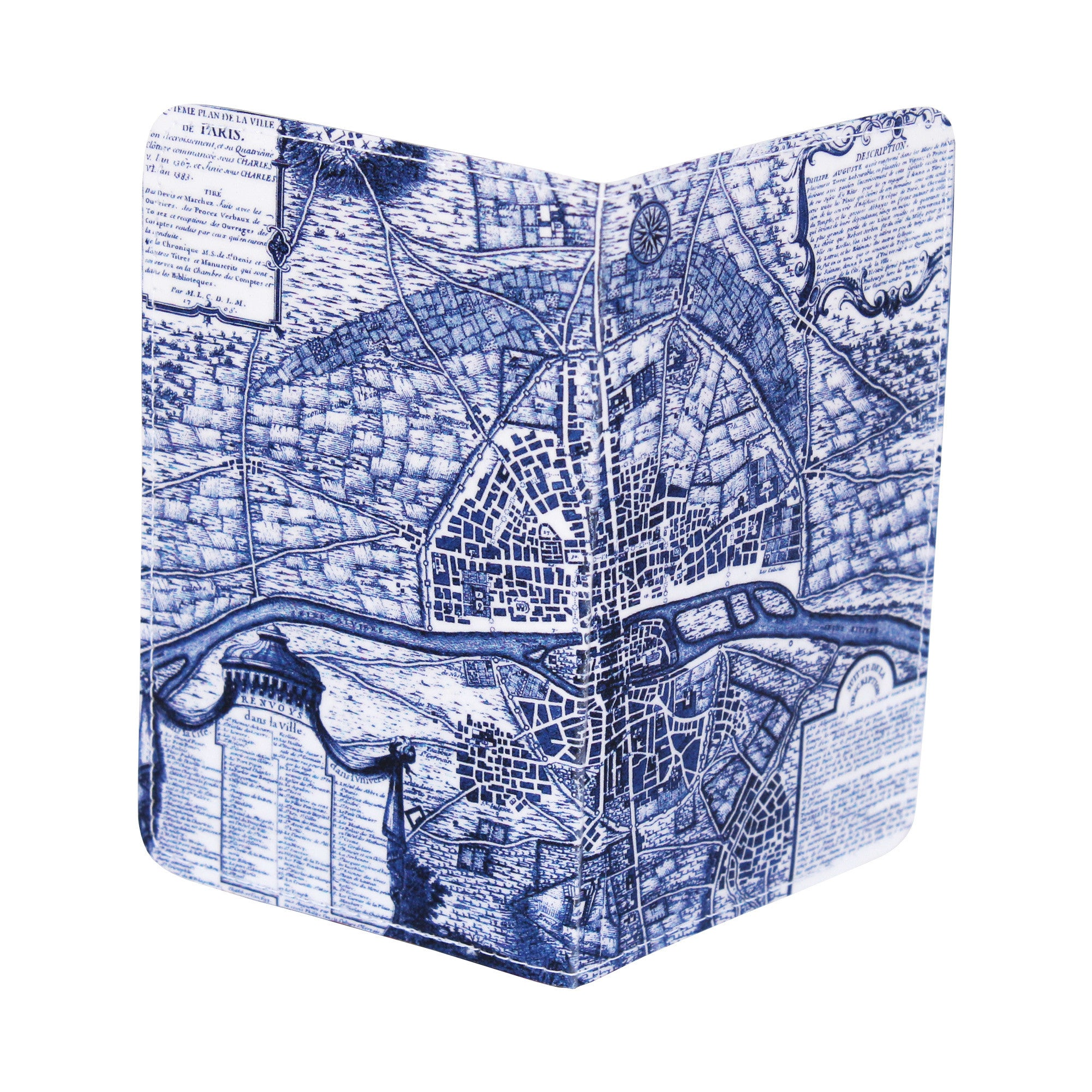 Map of Paris Business, Credit & ID Card Holder