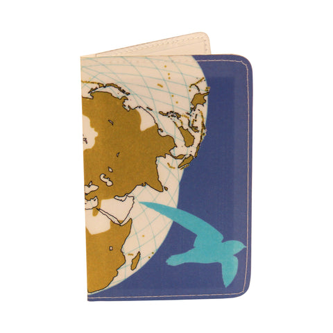 Purple Bird Map Business, Credit & ID Card Holder